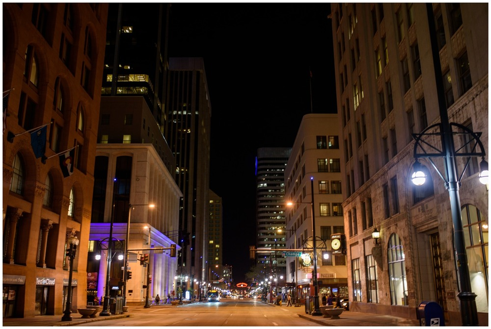 Downtown Denver at night
