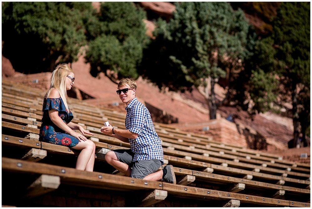 proposal on Red Rocks steps