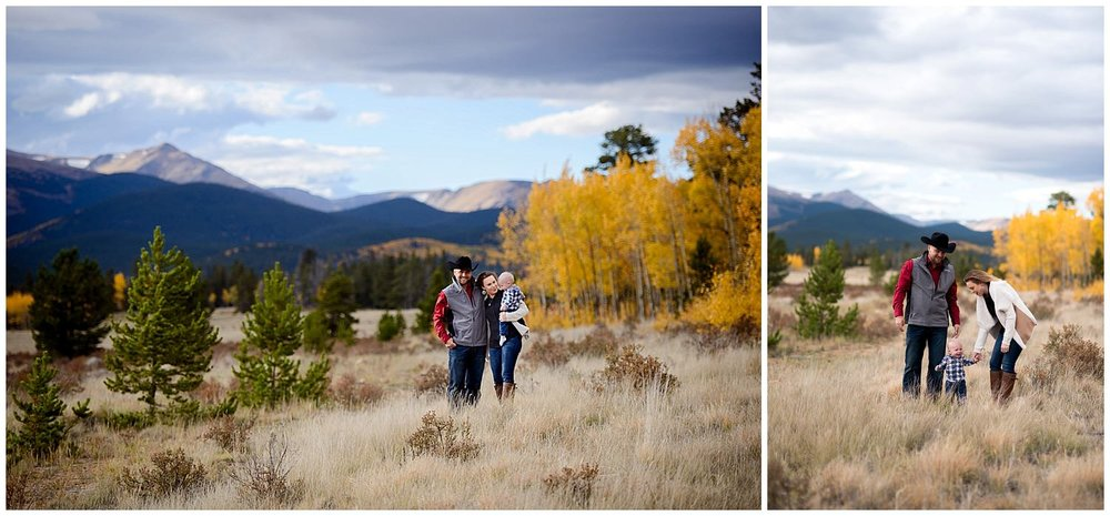 Fall family photo at Kenosha Pass Colorado