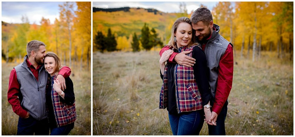 Fall Engagement photo Kenosha Pass