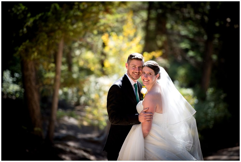 rocky mountain national park wedding photo
