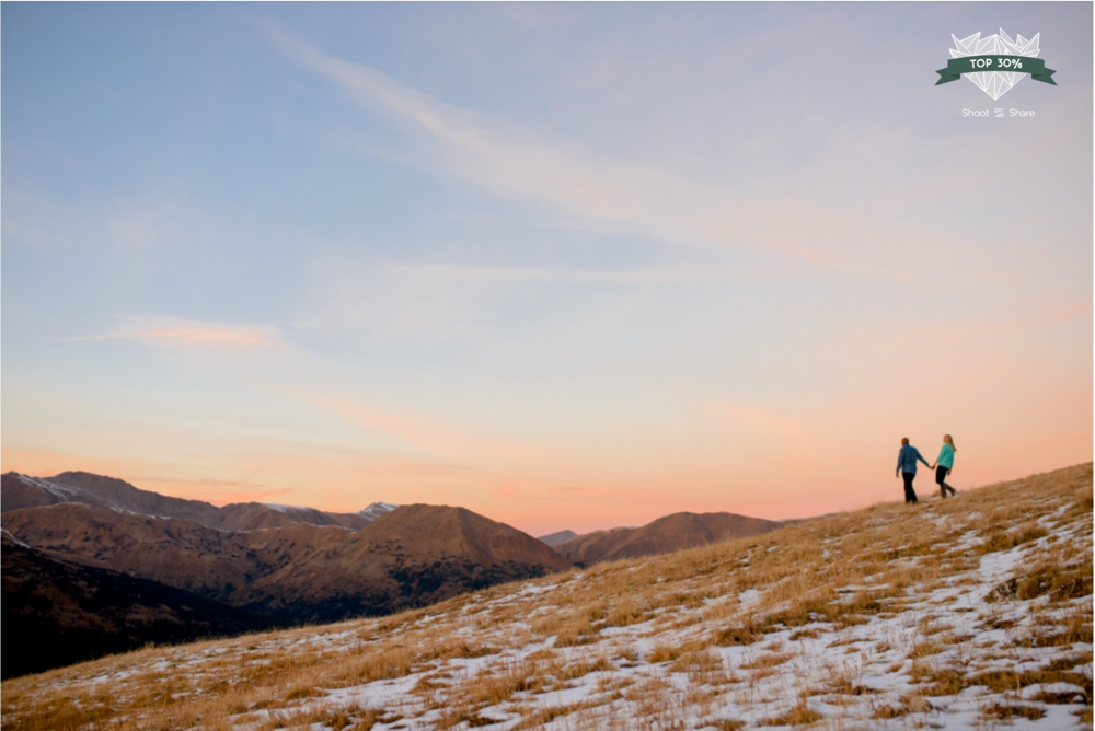 Loveland Pass Sunset Fall Engagement - Engagement & Couples Category - 8,607/ 32,282