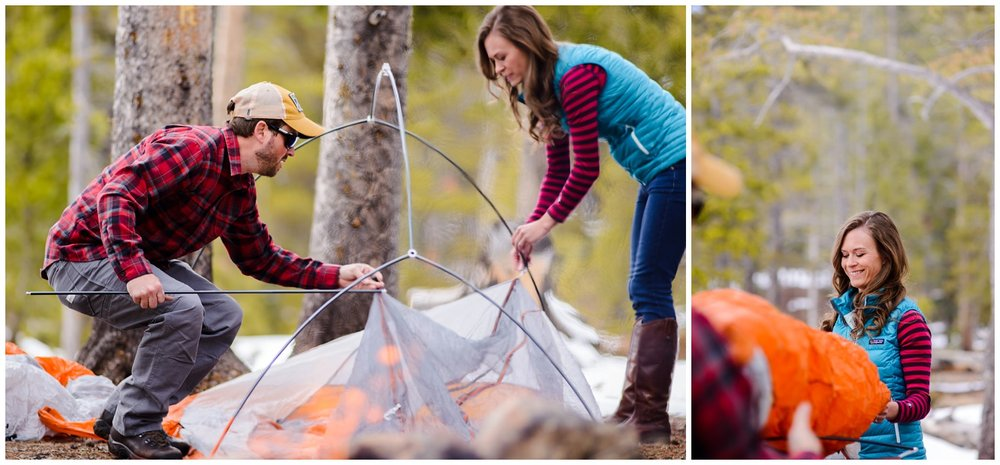 Colorado Camping engagement photos