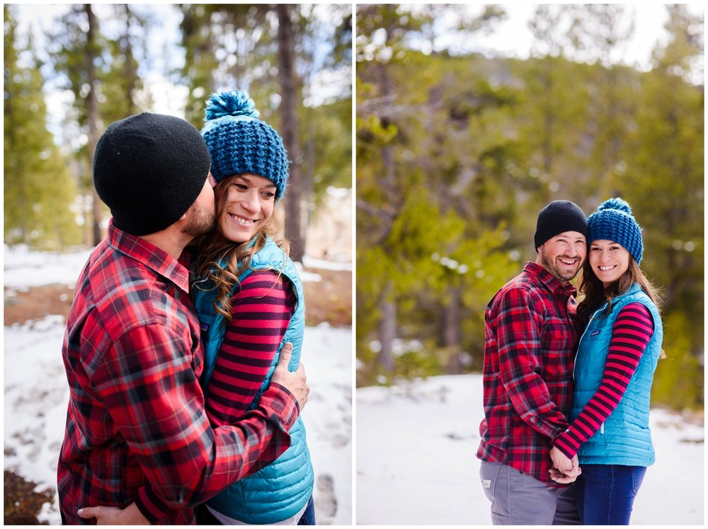 Colorado winter mountain engagement photos