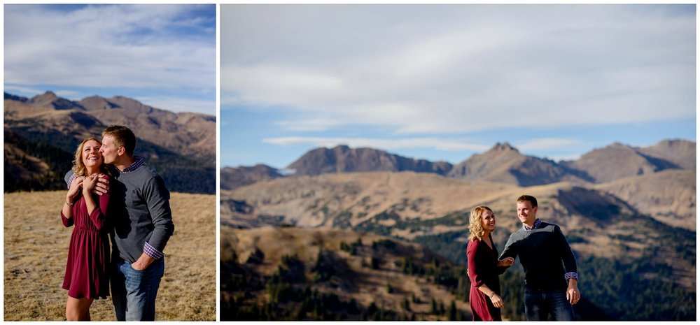engagement photography Colorado mountain