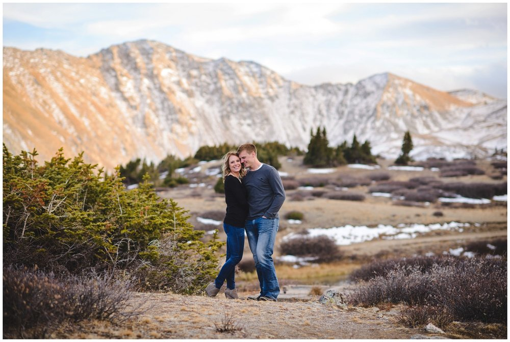 Breckenridge area engagement photo at lake