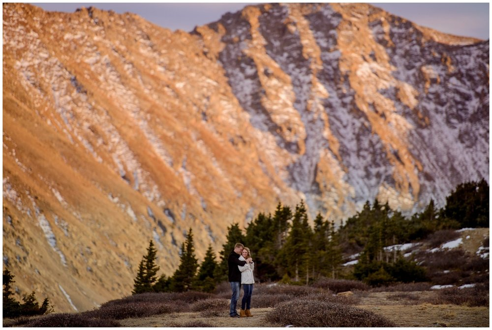 Arapahoe Basin sunset engagement photo