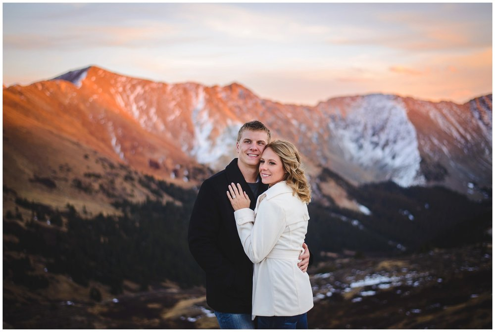 Loveland Pass Colorado engagement photo