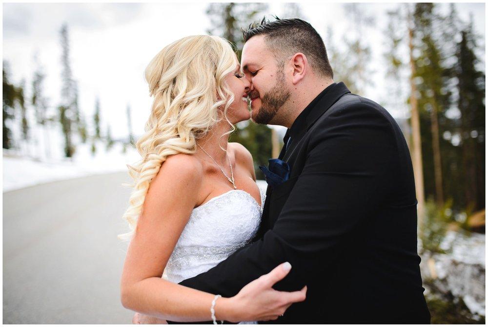 candid Colorado wedding portrait