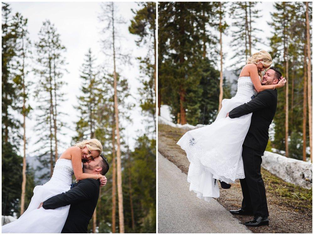 Breckenridge wedding portraits in trees
