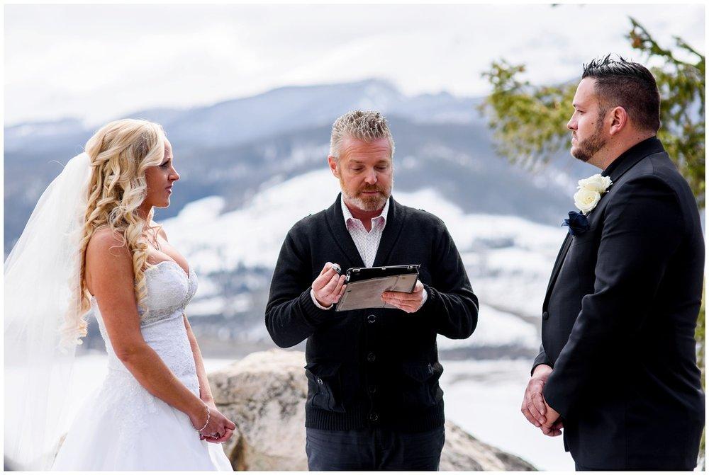 Sapphire Point wedding ceremony