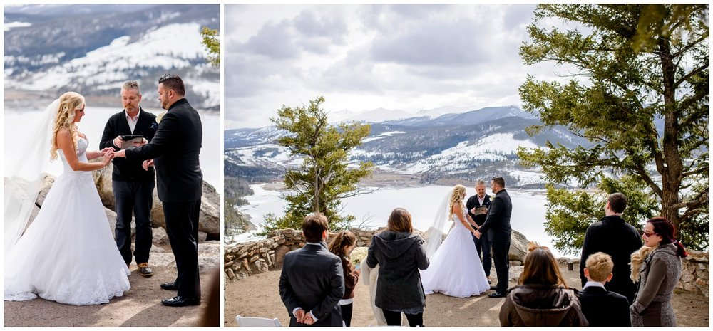 Colorado mountain wedding ceremony site
