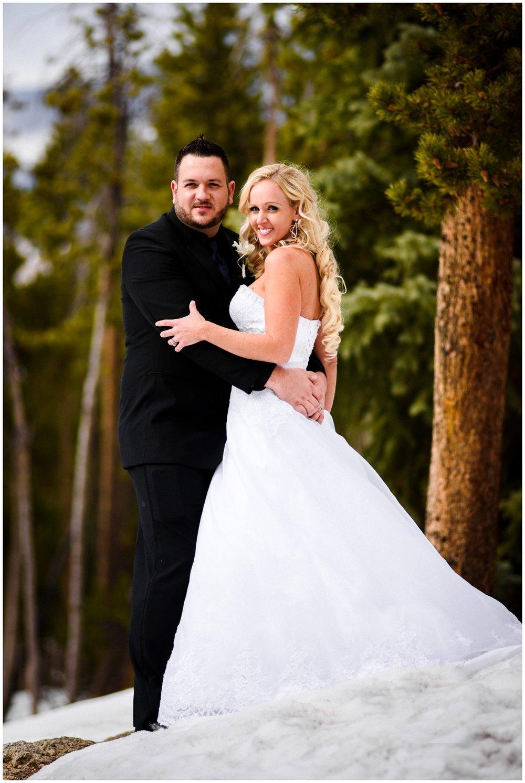 Colorado mountain wedding photo in Breckenridge