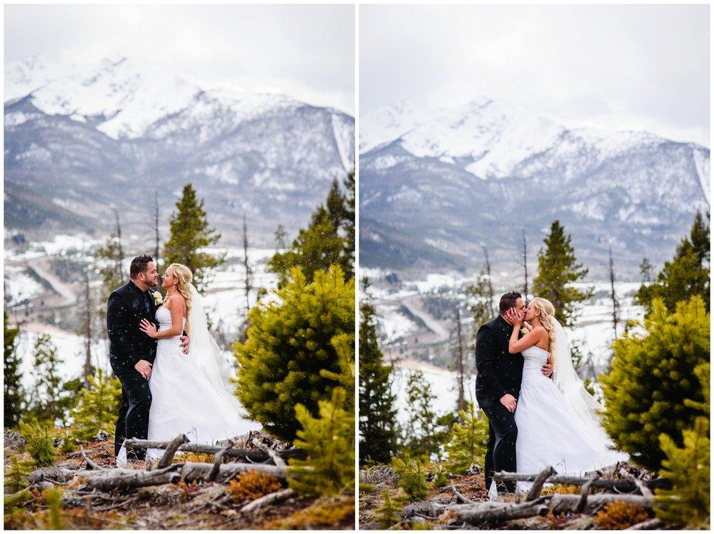 Colorado winter mountain wedding