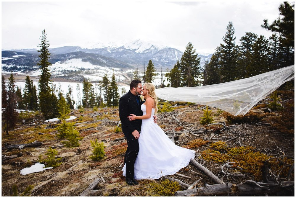 Winter Wedding photo at Sapphire Point