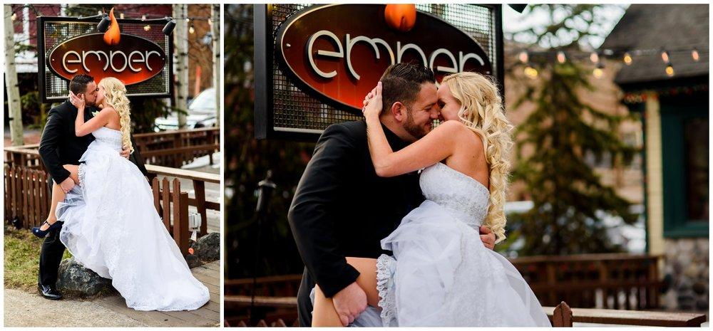 wedding photo at Ember restaurant