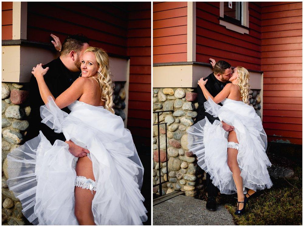 sexy wedding photo with garter