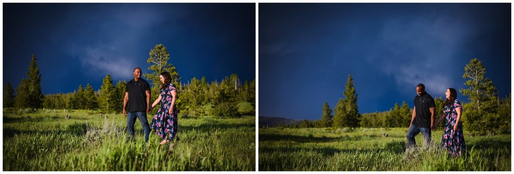 lake Dillon stormy sky engagement photo