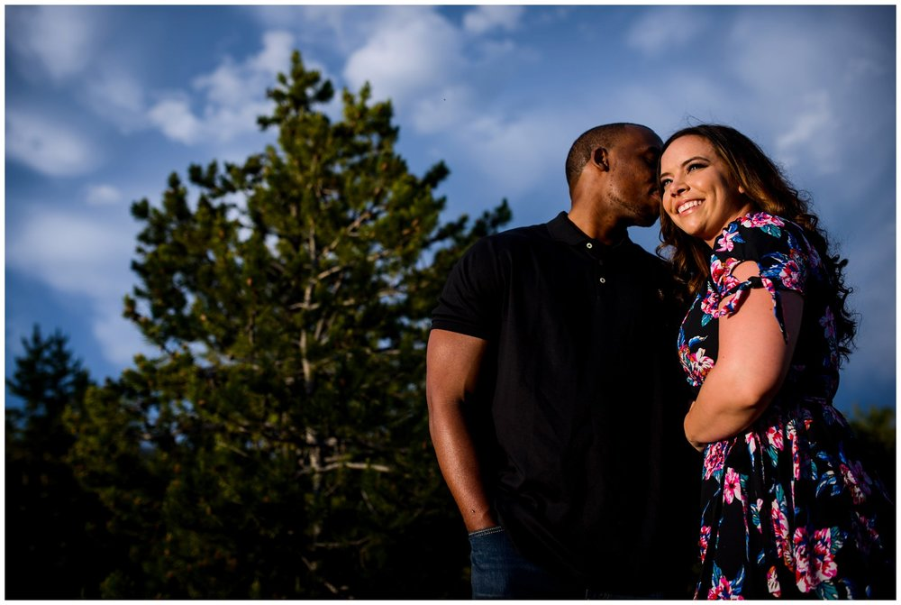 cool clouds colorado mountain engagement photo