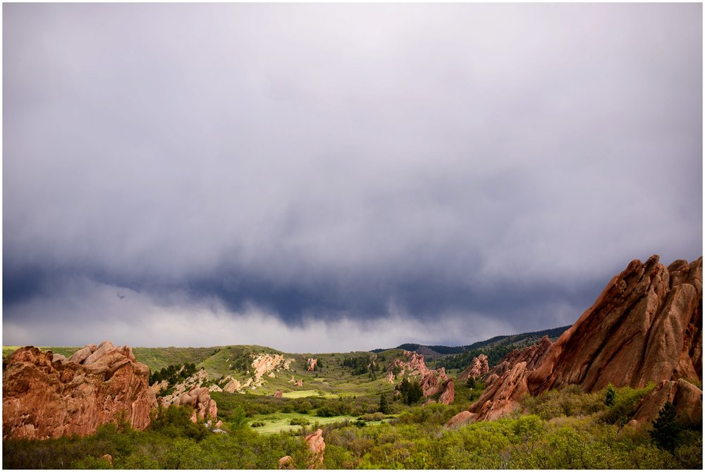 Stormy sky at Roxborough