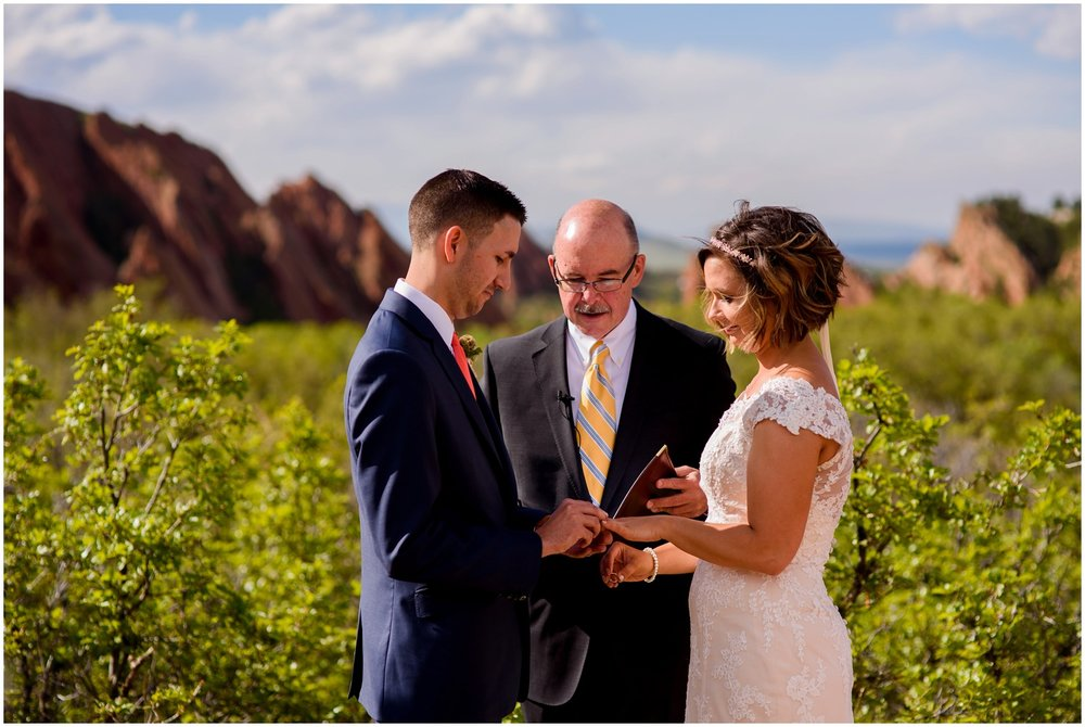 wedding ceremony at Roxborough