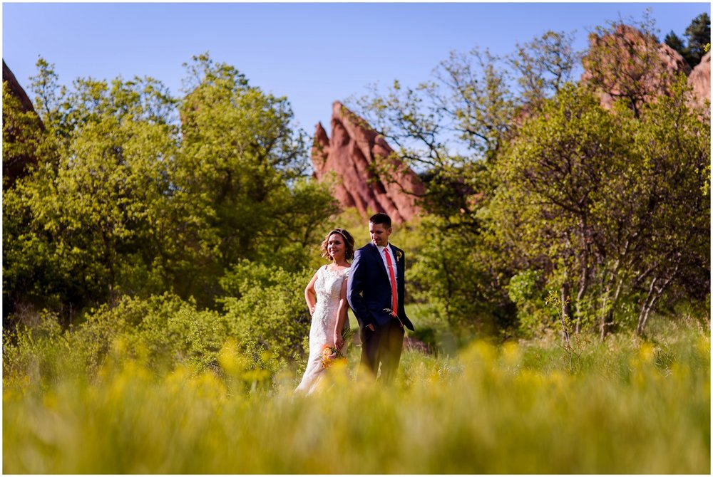 Roxborough State Park Wedding photo