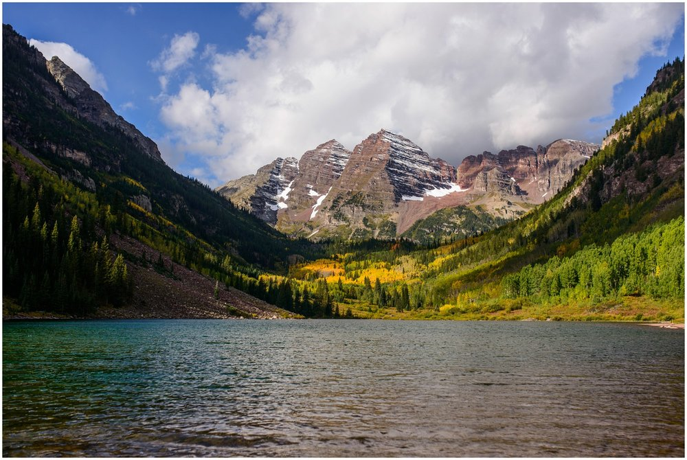 Maroon Bells Lake in September