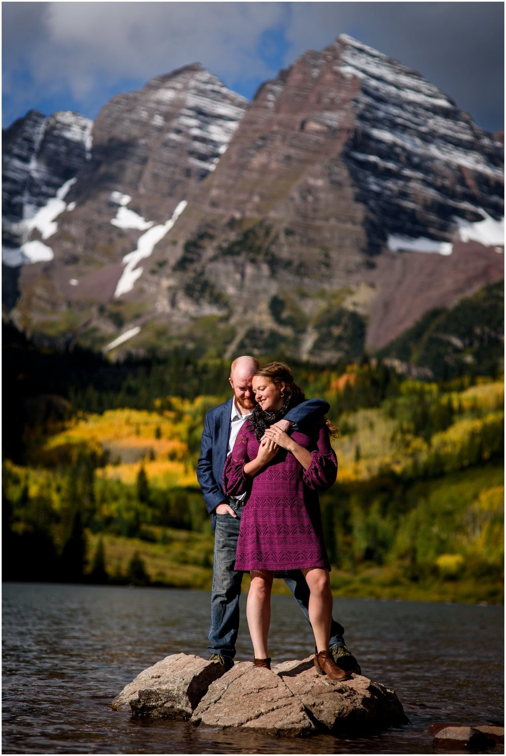 Aspen Engagement photo in Fall
