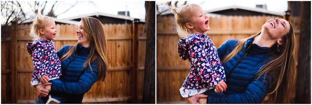 candid family photographs in Denver