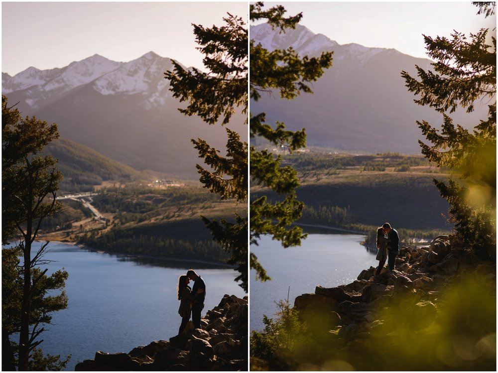 sunset engagement photo at Sapphire Point