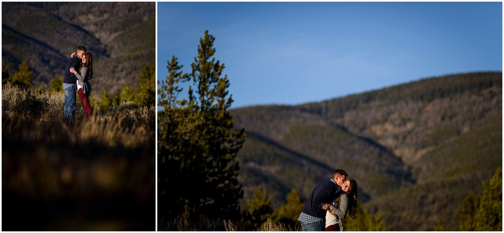 Breckenridge Colorado engagement photo