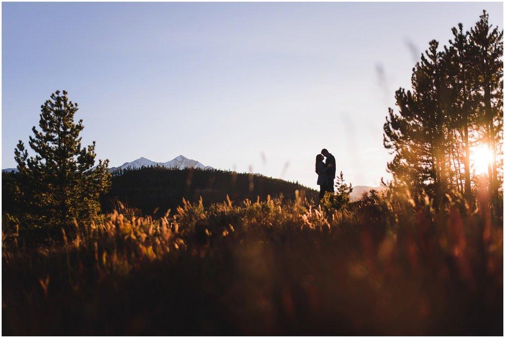 Colorado Mountain Engagement Photograph