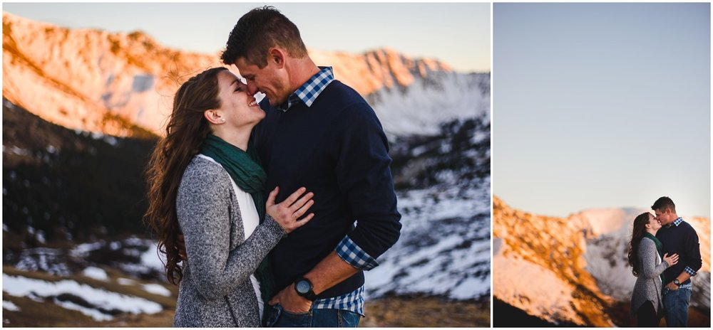 Alpenglow engagement photo