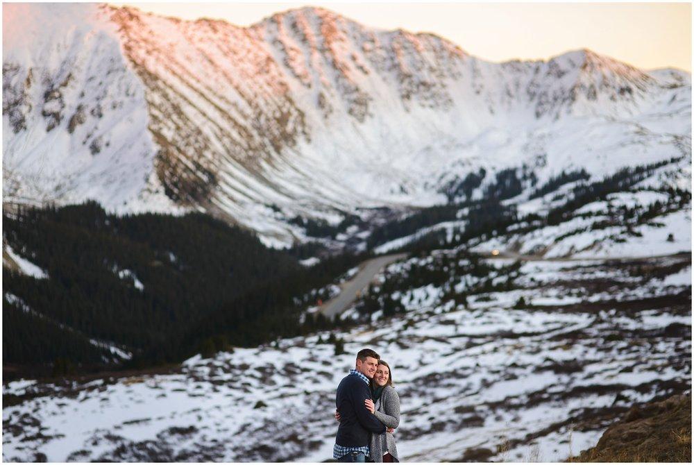 Destination engagement photo in Colorado