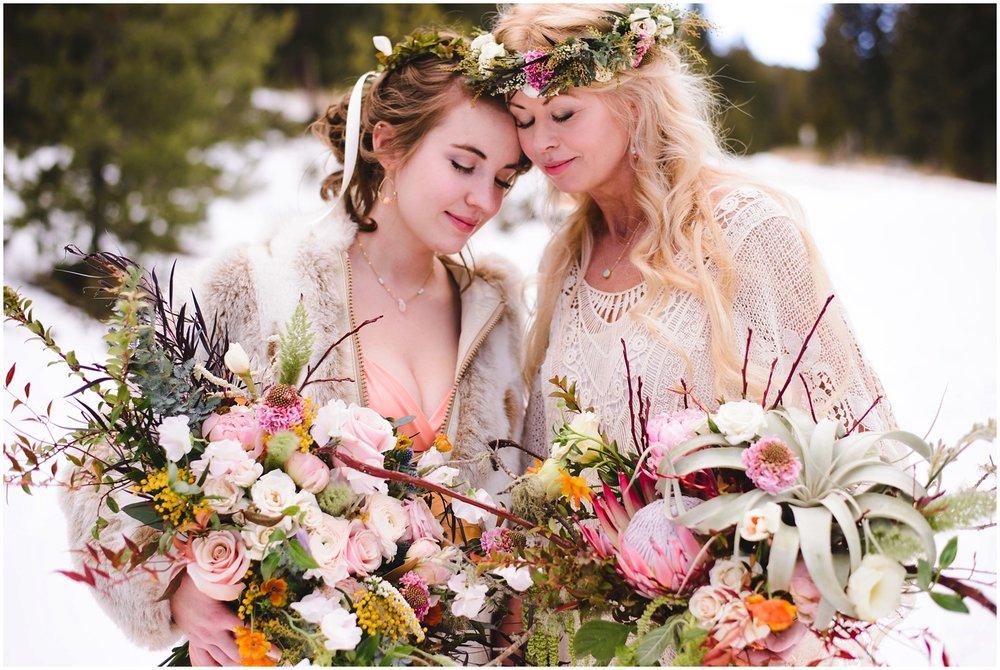 colorado lesbian winter wedding