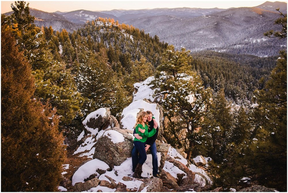 adventurous colorado mountain wedding and engagement photography