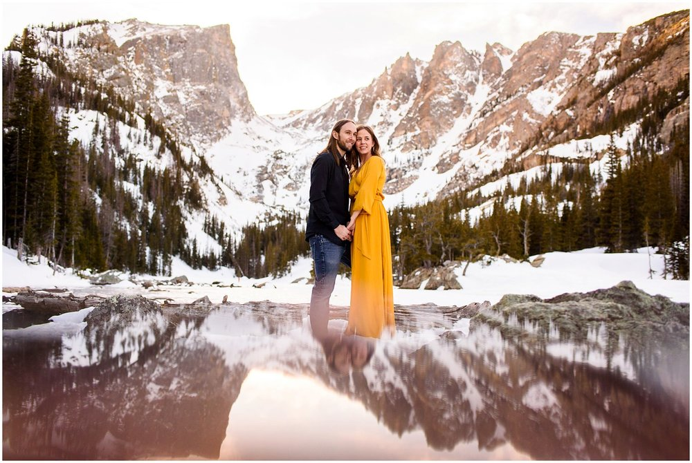 Colorado engagement photo in Rocky Mountain National Park