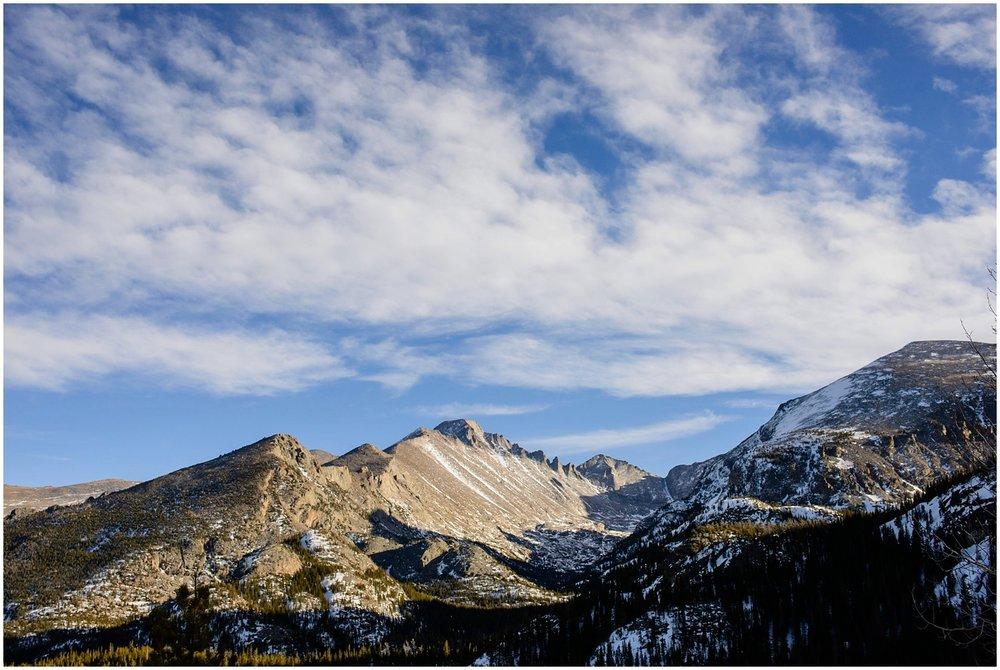 Longs Peak in the afternoon