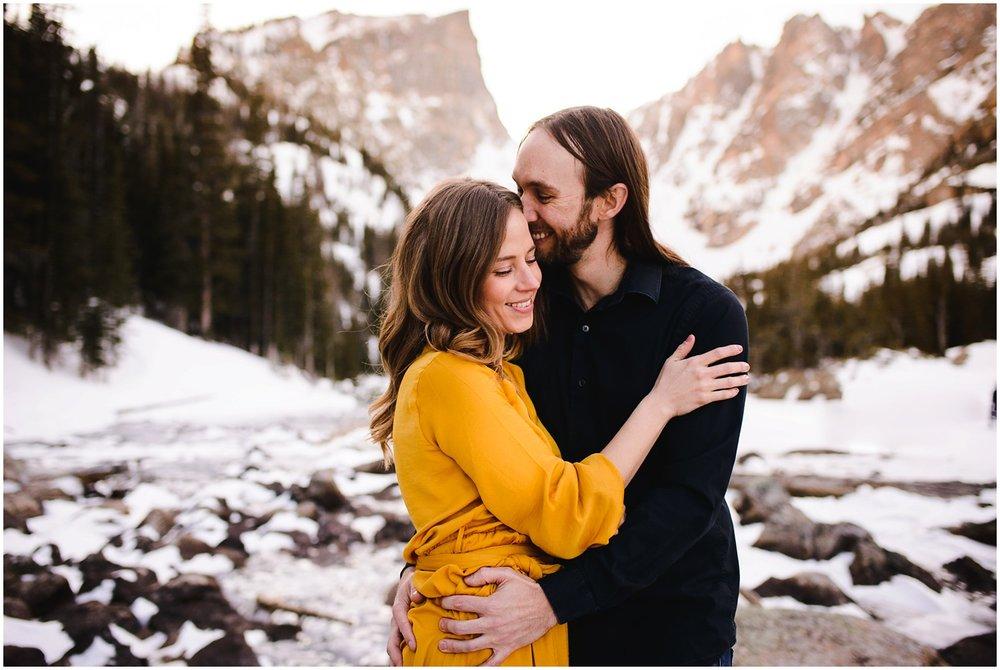 Dream Lake engagement photo