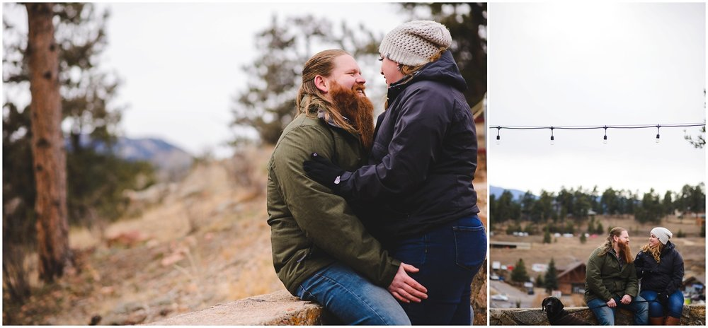 Colorado winter Engagement photo