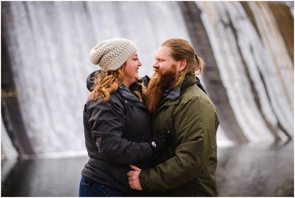 Evergreen Dam engagement photo