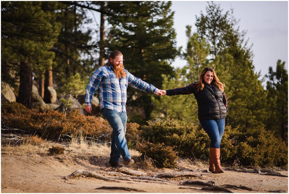 Three Sisters Park Evergreen couples photos