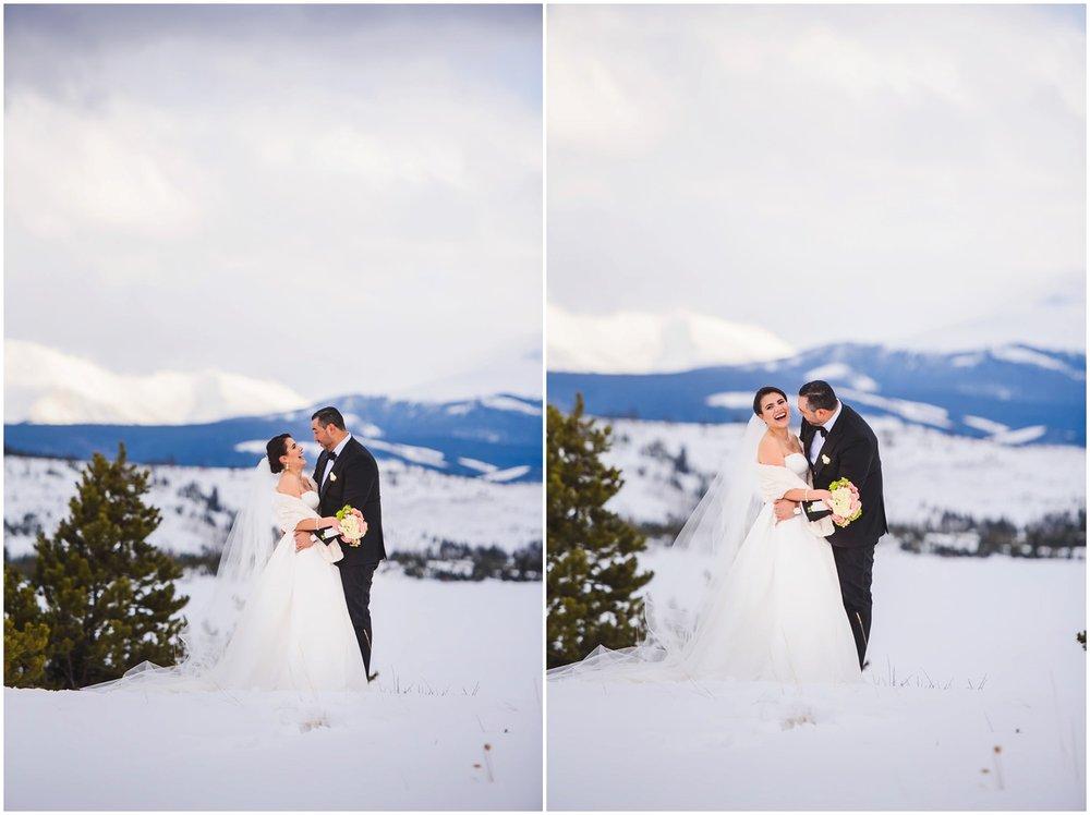 Lake Dillon winter Wedding Photography