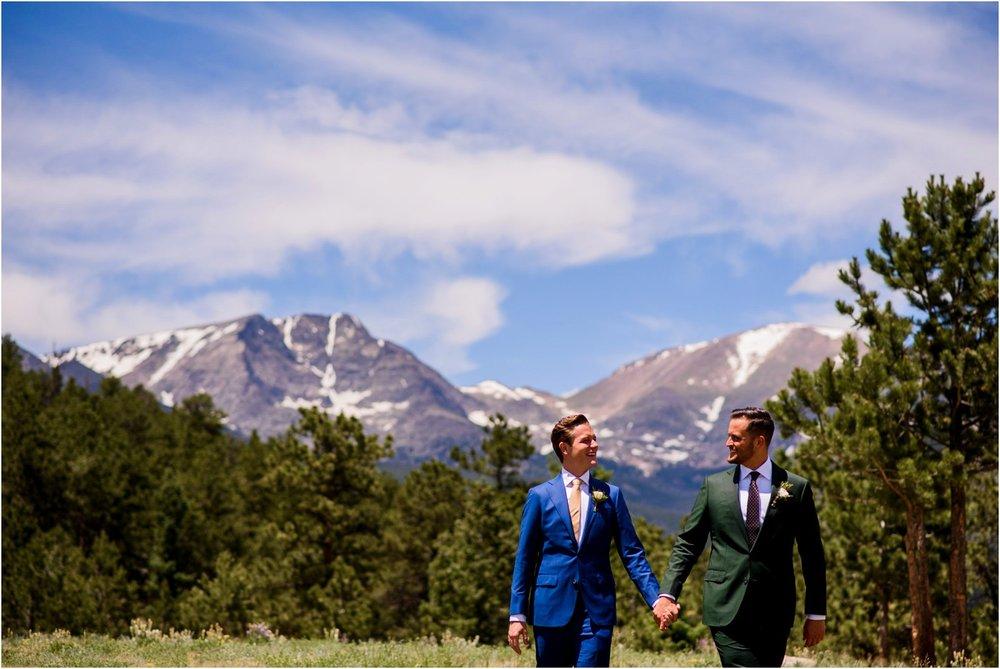 Colorado gay wedding mountain portraits