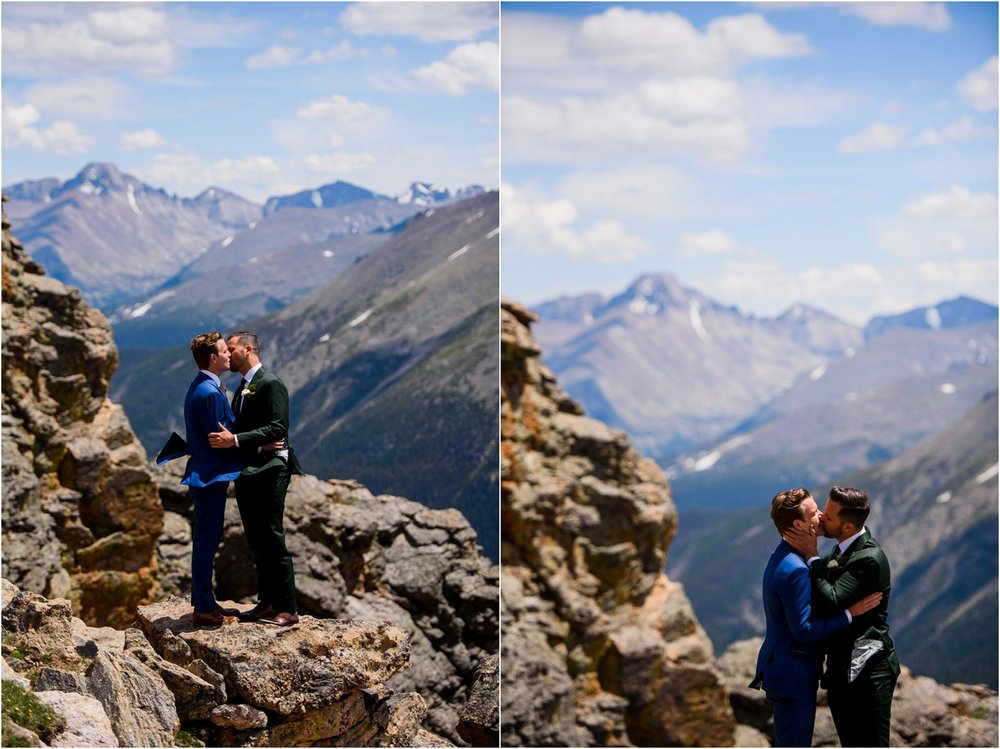 Grooms portraits in Rocky Mountain National Park