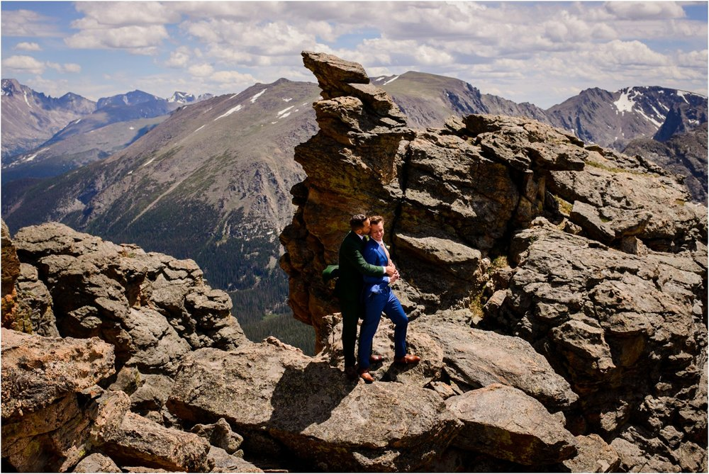 Rocky mountain national Park elopement portraits