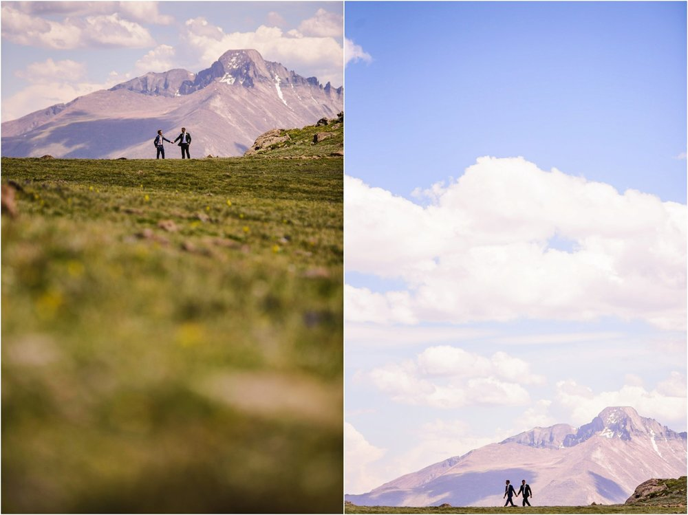 Adventure wedding photo in National Park