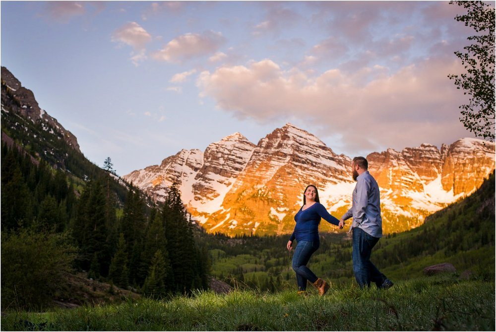 Aspen Colorado Engagement photo at Maroon Bells