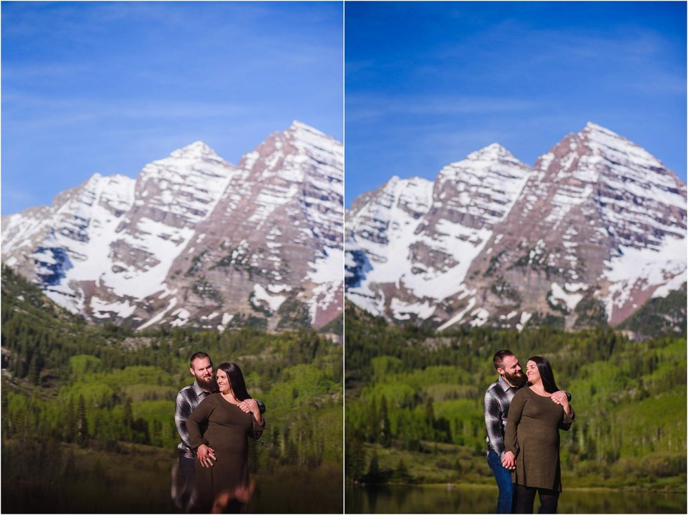 Colorado mountain Engagement Photo