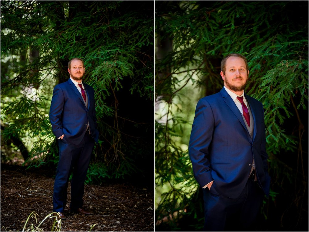 Groom style portraits in Redwood Forest